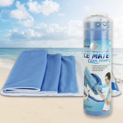 Serviette Ice Mate Cool Blanc / Bleu N-Rit