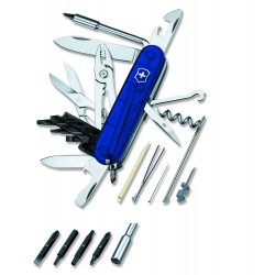 Couteau suisse Cybertool 34 bleu transparent Victorinox 91mm - 1