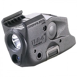 Lampe tactique Streamlight TLR-6 - Led blanche et Laser rouge montage sur Rail