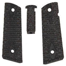 Kit grip crosse Govt G10 Piranha Grip gris noir G-Mascus Hogue - 1