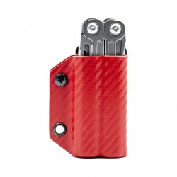 Etui pour outils Leatherman Wingman Sidekick Rebar Rev CLIP-&-CARRY fibre de carbone Rouge - 4