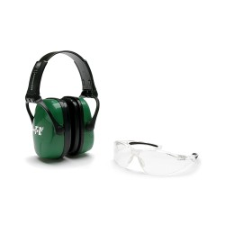 Casque de protection auditive & lunette de protection pour le tir HOWARD vert - 1