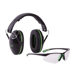 Casque de protection & lunette Gamma Junior ALLEN noir & vert - 2