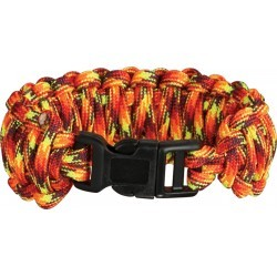 Bracelet Paracorde Feu double tressage King Cobra - 1