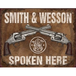 Plaque déco Smith & Wesson TIN SIGNS - 1