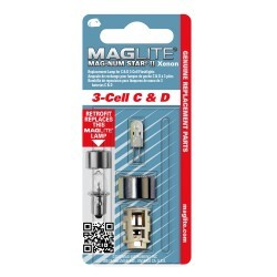 Ampoule de rechange Xénon Maglite C&D 3 cell